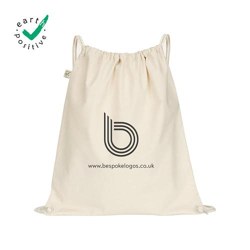 earth positive natural drawstring bag